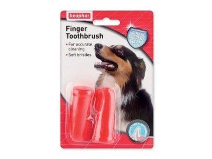 Beaphar Zubní kartáček na prst pes