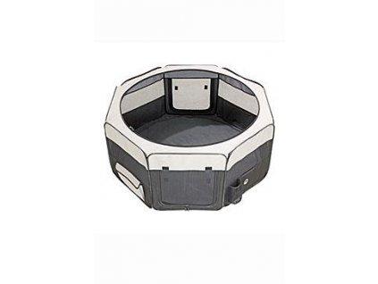 Box sklád. nylon štěně 74x74x35cm grey/black new