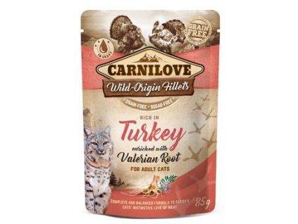 Carnilove Cat Pouch Turkey Enriched & Valerian 85g