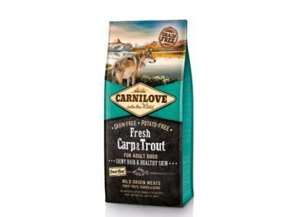 Carnilove Dog Fresh Carp & Trout for Adult 12kg  + Calibra Joy Dog Lamb Stripes 80g