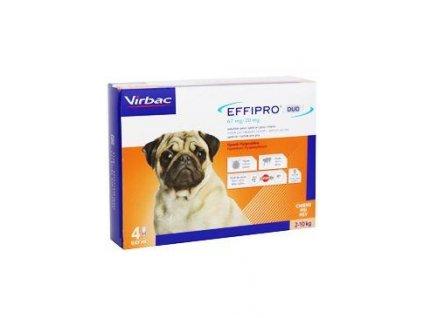 Effipro DUO Dog S (2-10kg) 67/20 mg, 4x0,67ml  AKCE do 29.6.2020