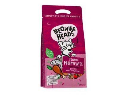 MEOWING HEADS Senior Moments NEW 1,5kg  + 3x kapsička MEOWING HEADS 100g  (Platnost do 31.1.2021)