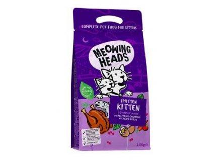 MEOWING HEADS Smitten Kitten 1,5kg  + 3x kapsička MEOWING HEADS 100g  (Platnost do 31.1.2021)