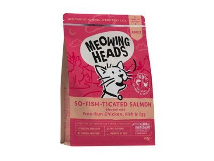MEOWING HEADS So-fish-ticated Salmon 450g  ( Purr - Nickety )