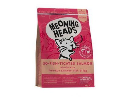 MEOWING HEADS So-fish-ticated Salmon 4kg  ( Purr - Nickety )
