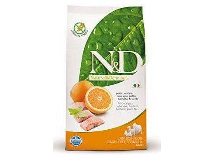 N&D GF DOG Adult Maxi Fish & Orange 12kg  + BRIT TWISTER O'CHICKEN 80g