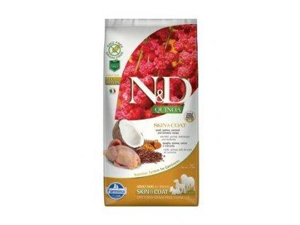 N&D Quinoa DOG Skin & Coat Quail & Coconut 7kg  + ZÁSOBNÍK NA KRMIVO ZDARMA! (Platnost do 31.10.2020)