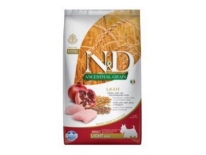 N&D Low Grain Dog Adult Light mini Chicken & Pomegranate 2,5kg