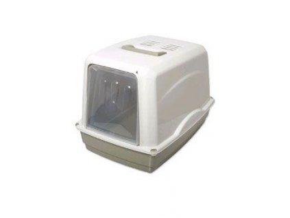 WC kočka Vicky kryté s filtrem, 54x39x39cm-šedá