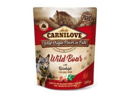 Carnilove Dog Pouch Paté Wild Boar & Rosehips 300g