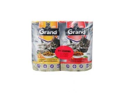 GRAND kaps. deluxe kočka 100% mas. Mtp.folie 5+1 á100g