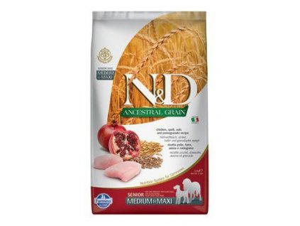 N&D LG DOG Senior M/L Chicken & Pomegr 2,5kg