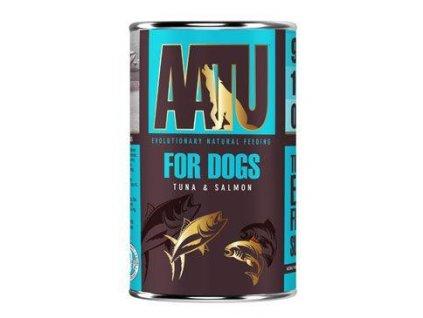 AATU Dog Tuna n Salmon konz. 400g