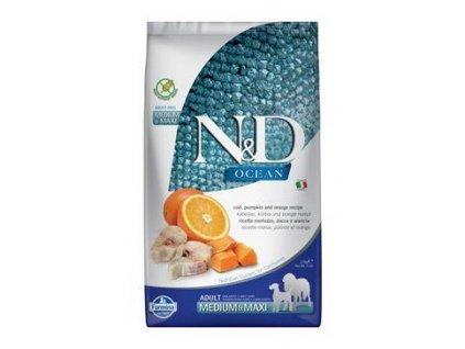 N&D OCEAN DOG Adult M/L Codfish&Pumpkin & Orange 2,5kg