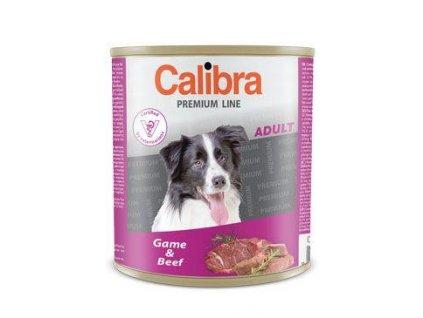 Calibra Dog  konz.Premium Adult zvěřina+hovězí 800g