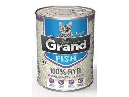 GRAND konz. deluxe kočka  rybí 400g