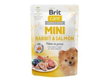 Brit Care Dog Mini Rabbit&Salmon fillets in gravy 85g