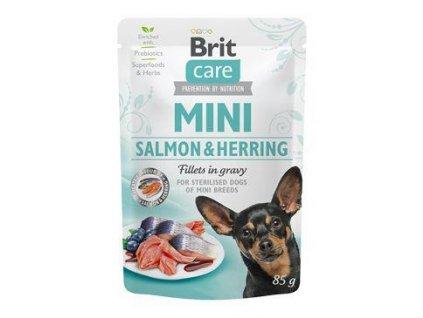 Brit Care Dog Mini Salmon&Herring steril fillets 85g
