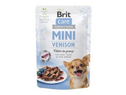 Brit Care Dog Mini Venison fillets in gravy 85g