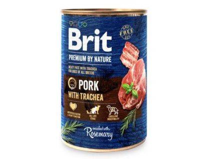 Brit Premium Dog by Nature  konz Pork & Trachea 400g
