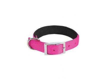 Obojek pes SOFT NYLON růžový 25mm/60cm Zolux