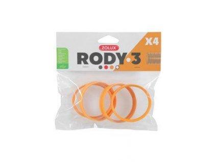 Komponenty Rody 3-spojovací kroužek žlutý 4ks Zolux