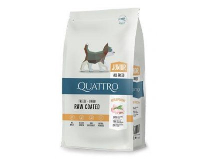 QUATTRO Dog Dry Premium All Breed Junior Drůbež 7kg