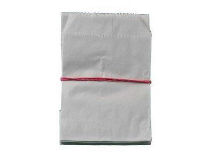 Sáček lékárenský papírový bílý 8x11cm 100ks