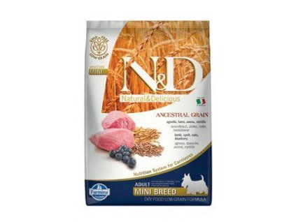 N&D LG DOG Adult Mini Lamb & Blueberry 7kg  + ZÁSOBNÍK NA KRMIVO ZDARMA! (Platnost do 31.10.2020)