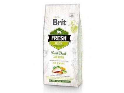 Brit Fresh Dog Duck & Millet Active Run & Work 2,5kg