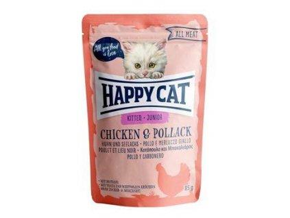 Happy Cat kapsa All Meat Junior Huhn&Seelachs 85g