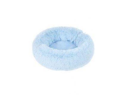Pelech ADELE plyš s dlouhým vlasem 50cm  Modrá 1ks