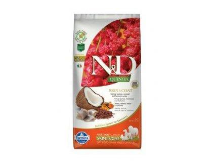 N&D Quinoa DOG Skin & Coat Herring & Coconut 7kg  + ZÁSOBNÍK NA KRMIVO ZDARMA! (Platnost do 31.10.2020)