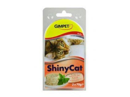 Gimpet kočka konz. ShinyCat  kuře 2x70g