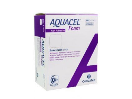Aquacel foam neadhesivní 5x5cm/10ks krytí na rány