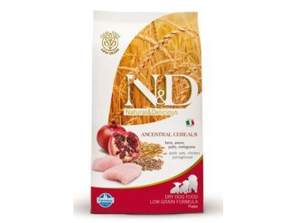 N&D LG DOG Puppy Mini Chicken & Pomegr 800g