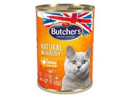 Butcher's Cat Natur.&Healthy kousky kuřete v želé 400g