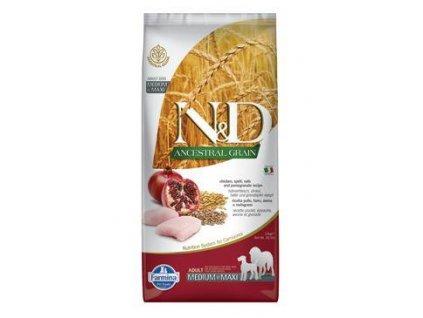 N&D LG DOG Adult M/L Chicken & Pomegranate 12kg