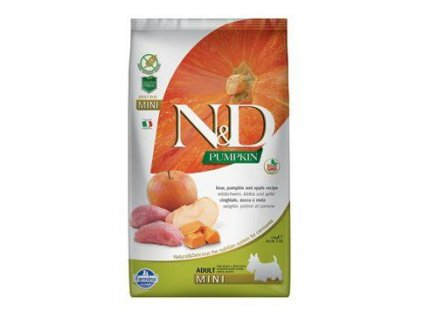N&D Pumpkin DOG Adult Mini Boar & Apple 7kg