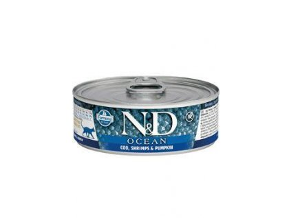 N&D CAT OCEAN Adult Tuna&Codfish&Shrimps&Pumpkin 80g