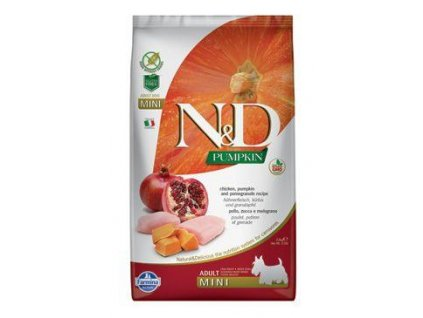 N&D Pumpkin DOG Adult Mini Chicken&Pomegranate 7kg