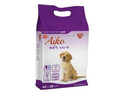 Podložka absorbční pro psy Aiko Soft Care 60x58cm 14ks