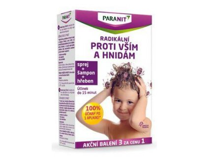 Paranit spray na vši 100ml+hřeben +šampon