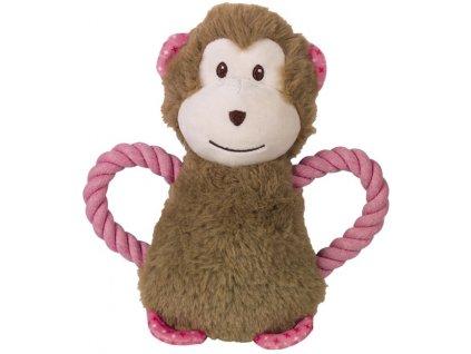 Nobby hračka plyšový opice pro psy 21 cm s lanem