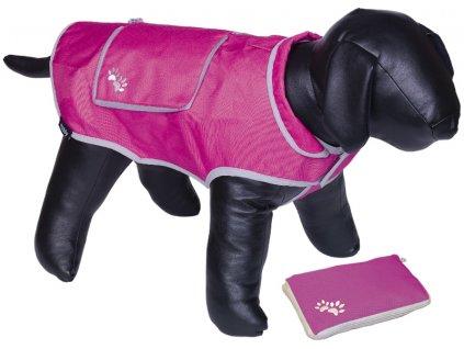 Nobby reflexní nepromokavá vesta BANAT pro psa 48cm růžová