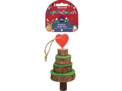 Hračka hlod. vánoční stromek dřevo/lufa 7x16,5cm
