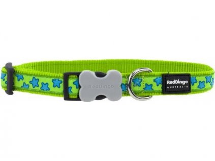 Obojek RD star LIME GREEN 2,5/41-63cm