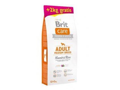 Brit Care Dog Adult Medium Breed Lamb & Rice 12kg+2kg