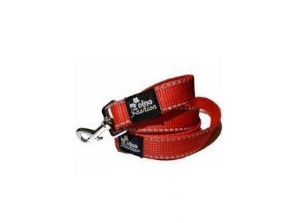 Vodítko DINOFASHION popruhové reflex.červené 160/2,5cm