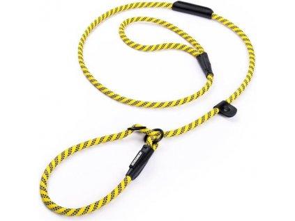 Vodítko nylon s obojkem kulaté - žluté Freezack 0,8 x 180 cm